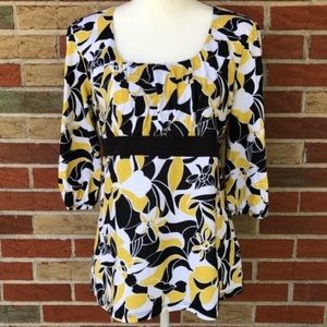 🌷 NWT Style & Co. Ruched Tie-Back 3/4 Sleeve Top